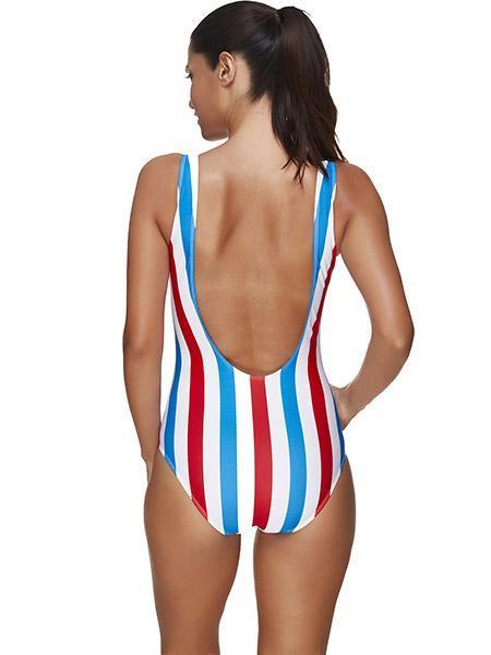 Sexy Colorful Stripe Swimsuit
