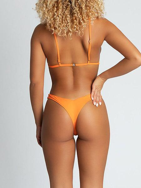 Khloe Crop Bikini Bikini Sets Neon Orange