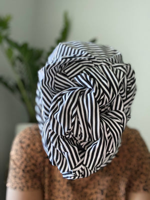 Black&White Stripe Headwrap