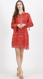 Red Printed Shirt Dress