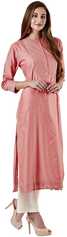 Rose Pink Chanderi Kurta