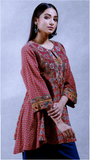 Terracotta Red Printed Kurti