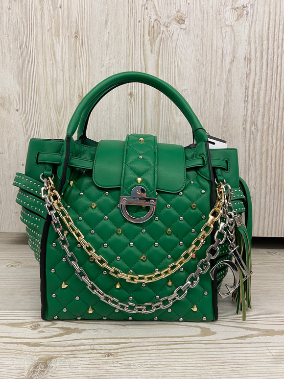 LA CARRIE -  BORSA CON CATENE- GREEN