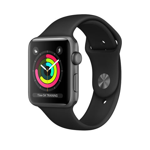 Apple Watch Series 3 Space Gray Aluminum Case with Black Sport GPS Band 38mm - MTF02