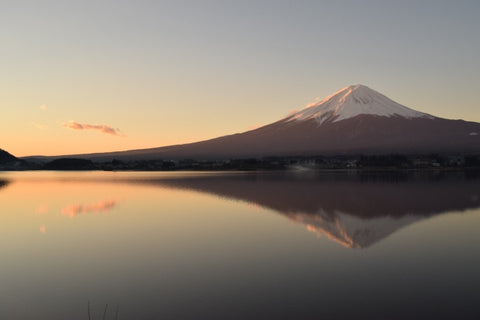 Mt. Fuji reflected in the lake