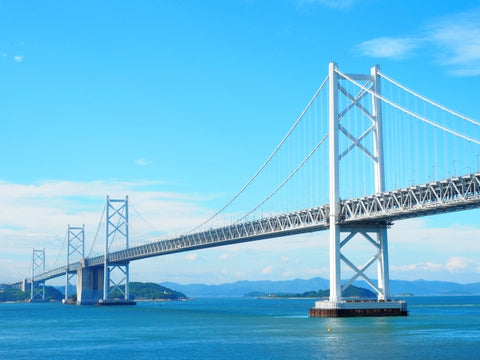 The Great Seto Bridge in Setouchi
