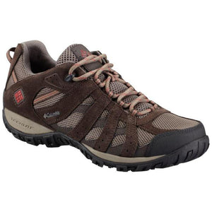 COLUMBIA Redmond Waterproof Low Hiking Shoe - Mud, Garnet Red