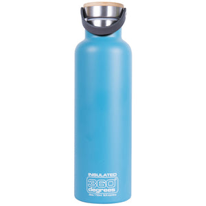 360 Degrees 750ml Stainless Steel Vacuum Insulated Drink Canteen - Aqua