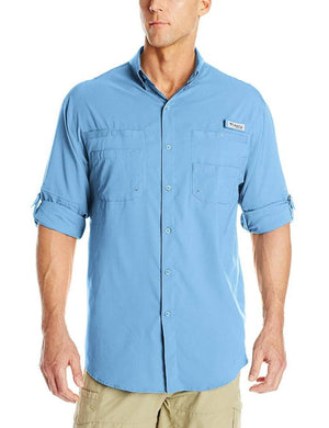 Columbia Mens PFG Tamiami II Long Sleeve Shirt, Front - Yacht