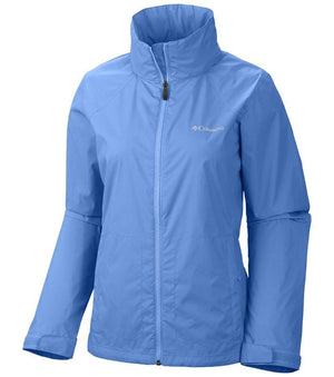 Columbia Womens Switchback II Waterproof Jacket, Front - Harbour Blue