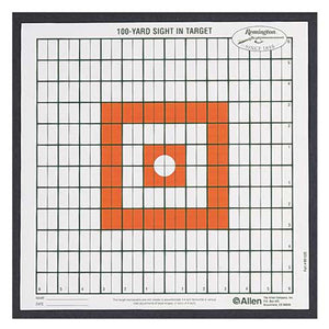 Allen Remington 100 Yard Sight In Grid Target - 12 Pack