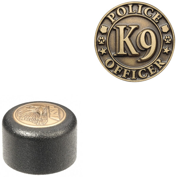 ASP Baton Logo End Cap With K9 Police Officer Insignia