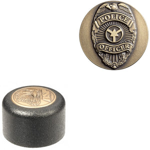 ASP Baton Logo End Cap With Police Officer Insignia