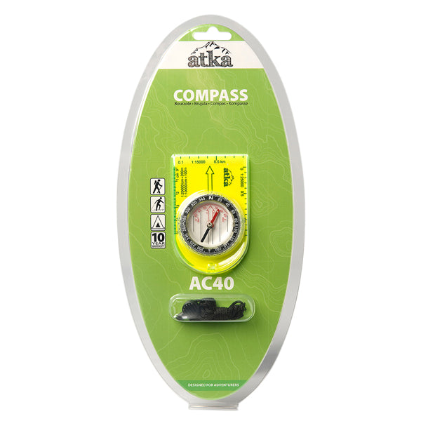 Atka AC40 Baseplate Compass With Lanyard