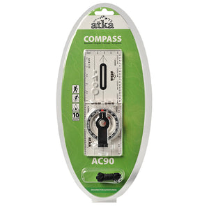 Atka AC90 Baseline Folding Compass With Lanyard