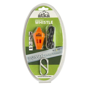 Atka Emergency Whistle With Hand Lanyard & S-Biner Clip