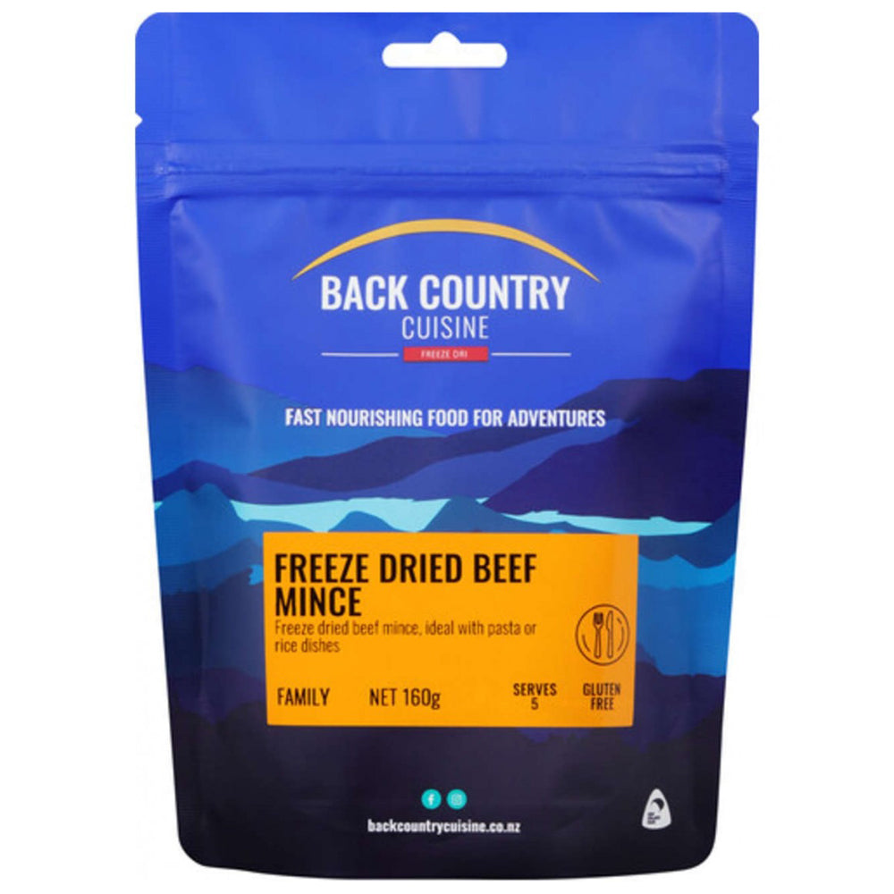 Back Country Cuisine Freeze Dried Beef Mince 5 Serves