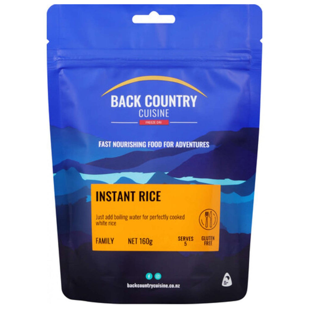 Back Country Cuisine Freeze Dried Instant Rice 5 Serves