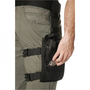 BLACKHAWK! OMEGA ELITE Double Pistol Mag/Single Cuff Pouch, Side View