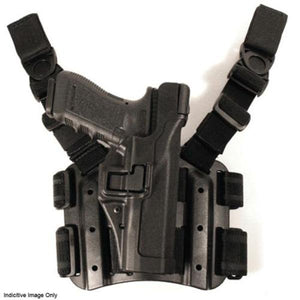 BLACKHAWK! SERPA LVL 3 Auto Lock Tactical Drop Leg Holster - Suits Glock 17, 19, 22, 23, 31 & 32