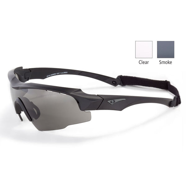 Blueye Eyewear Jager & Jager Low Profile Tactical Sunglasses With Clear & Smoke Ballistic Lenses