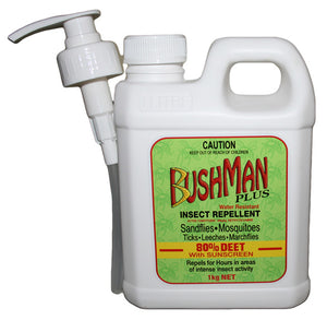 Bushman Plus Dry Gel Water Resistant Insect Repellent With Sunscreen 1kg