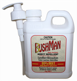 Bushman Heavy Duty Dry Gel Water Resistant Insect Repellent 1kg
