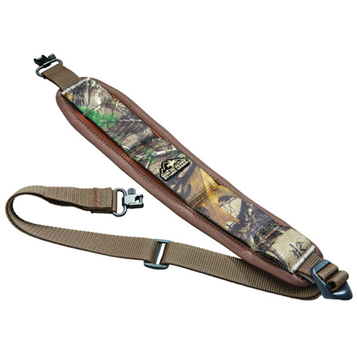 Butler Creek Comfort Stretch Rifle Sling With Swivels Realtree Xtra