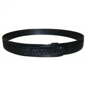 "Hellweg Ecor Concealed Buckle Leather Under Belt 1-1/2"" - Basketweave"