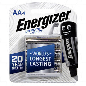 Energizer L91-BP4T AA-Cell Ultimate Lithium Battery - 4 Pack