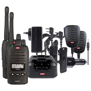 GME TX6160TP 80CH 5/1Watt UHF CB Handheld Waterproof Radio Twin Pack