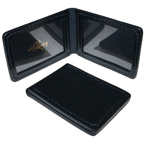 Hellweg Dual Window Leather Identification Card Wallet