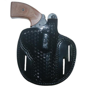 Hellweg Ecor LVL 1 Basketweave Leather Pancake Holster | S&W, Ruger, Rossi, Dan Wesson & Taurus Revolvers