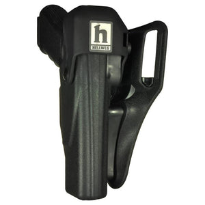Hellweg 2800-B-G17 LVL 4 Hood-Loc Top Draw Duty Holster - Suits Glock 17 & 22, Front