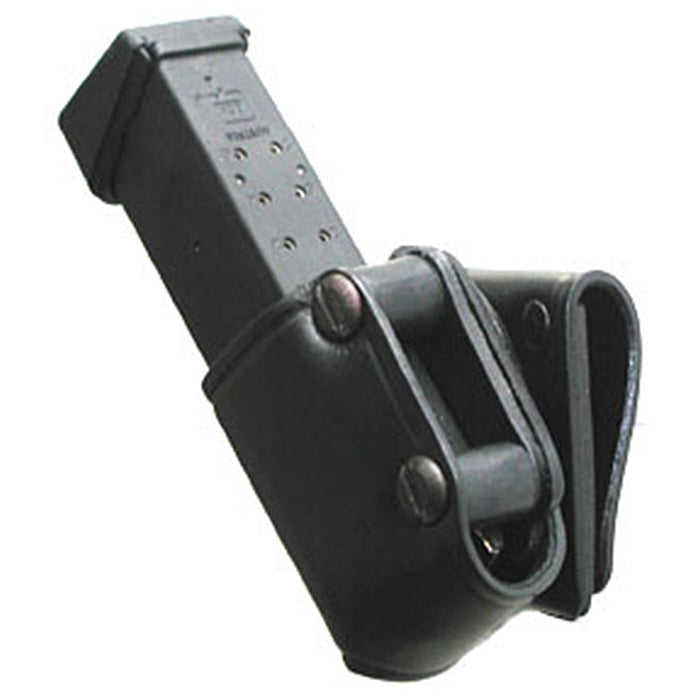Hellweg Leather Single Competition Swivel Speed Magazine Pouch Plain - Suits Glock 9mm 17, 21