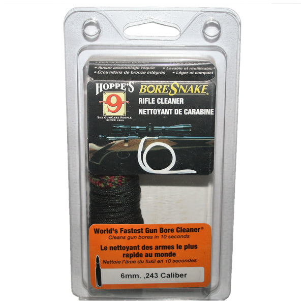 Hoppe's (24012) Bore Snake - Suits 6mm, .240, .243 & .244 Caliber Rifles