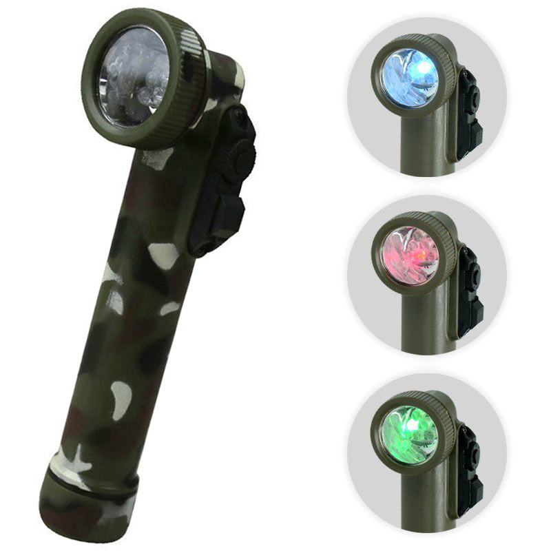 HUSS 6 LED Angle Head Torch - Woodland Camo