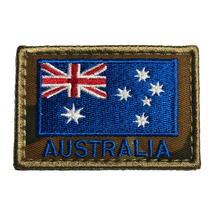 HUSS Auscam Flag Patch Velcro Backed - Blue Australia