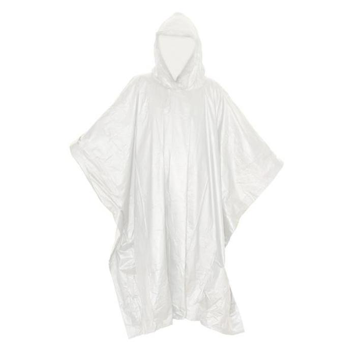 HUSS Hooded Lightweight Emergency Rain Poncho
