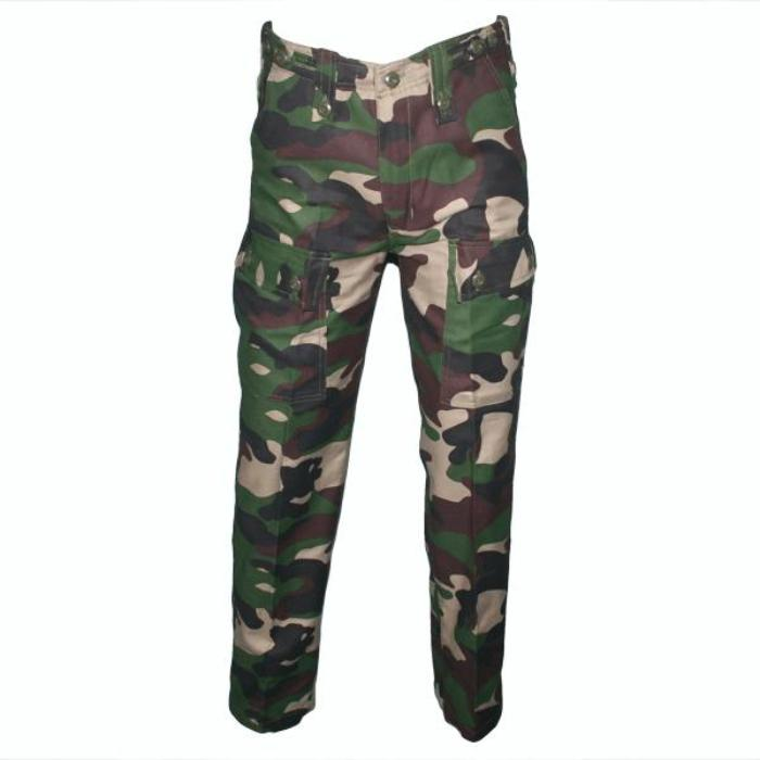 HUSS Cargo Trousers - Woodland Camo