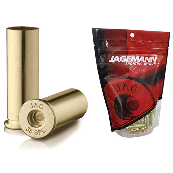 Jagemann Unprimed Brass Cases 38 SPECIAL - 100 Pack (Small Pistol Primer)
