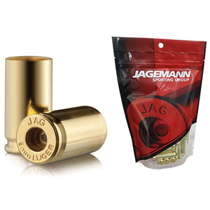 Jagemann Unprimed Brass Cases 9MM LUGER - 100 Pack (Small Pistol Primer)