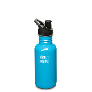 Klean Kanteen Classic Stainless Steel 18oz Drink Canteen With Sports Cap - Channel Island