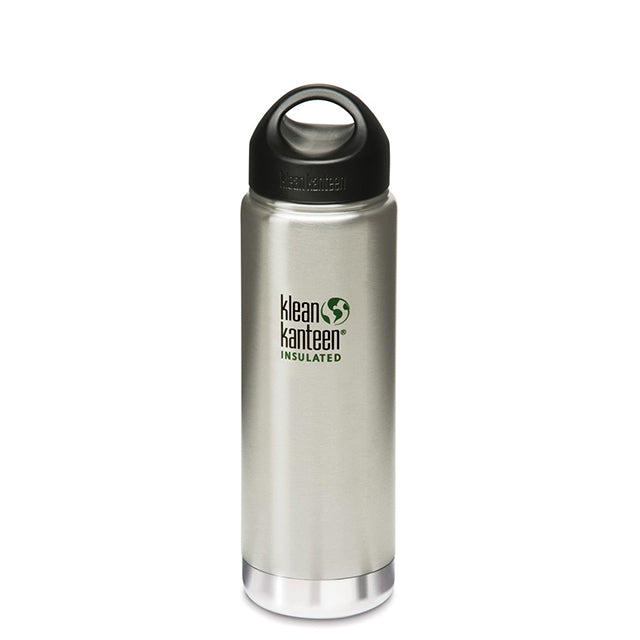 Klean Kanteen Wide Mouth Vacuum Insulated Double Wall Stainless Steel 20oz Drink Canteen - Stainless Steel