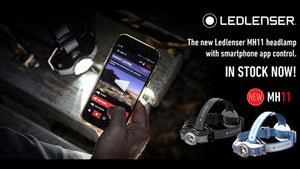 Led Lenser MH11 - 1000 Lumen LED Rechargeable Outdoor Series Headlamp with Bluetooth