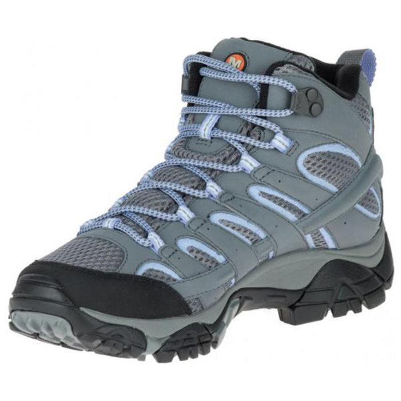cab96b02 Merrell Moab 2 Mid WP Gore-Tex Women's Hiking Boots - Grey/Periwinkle