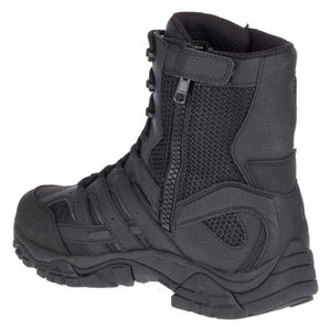 "Merrell Tactical Moab 2 8.0"" Tactical Side Zipper / Waterproof Boots - Black"
