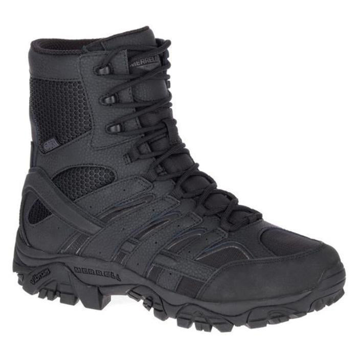 "Merrell Tactical Moab 2 8.0"" Tactical Side Zipper/Waterproof Boots"