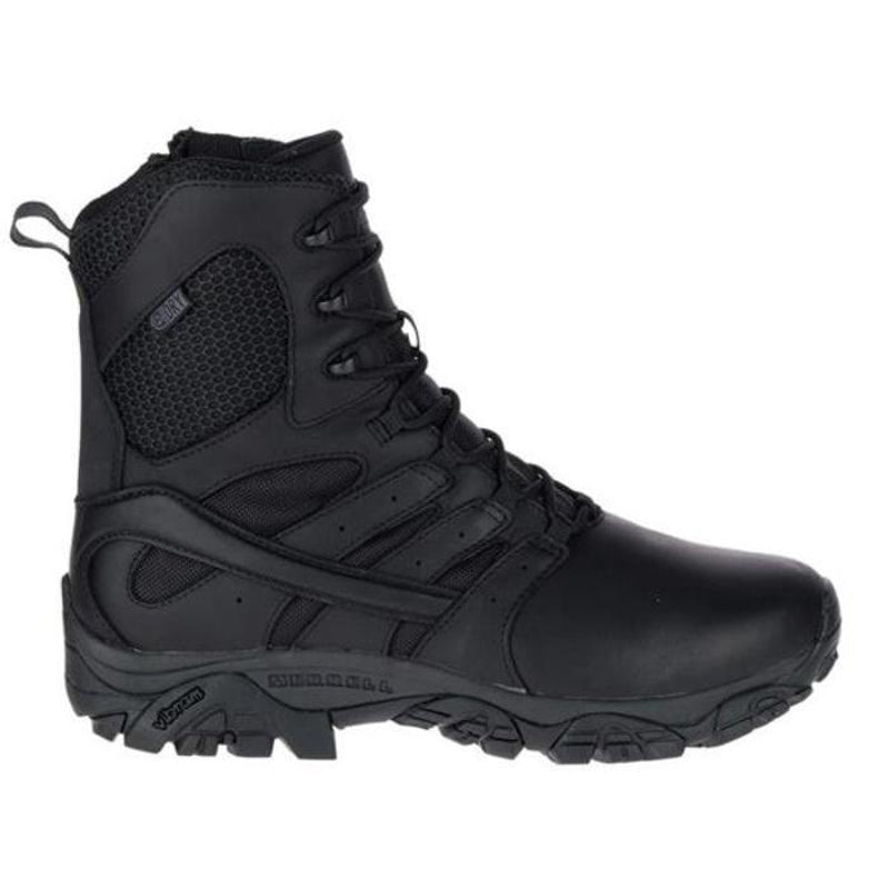 "Merrell Tactical Moab 2 8.0"" Tactical Response Side Zipper / Waterproof Boots - Black"