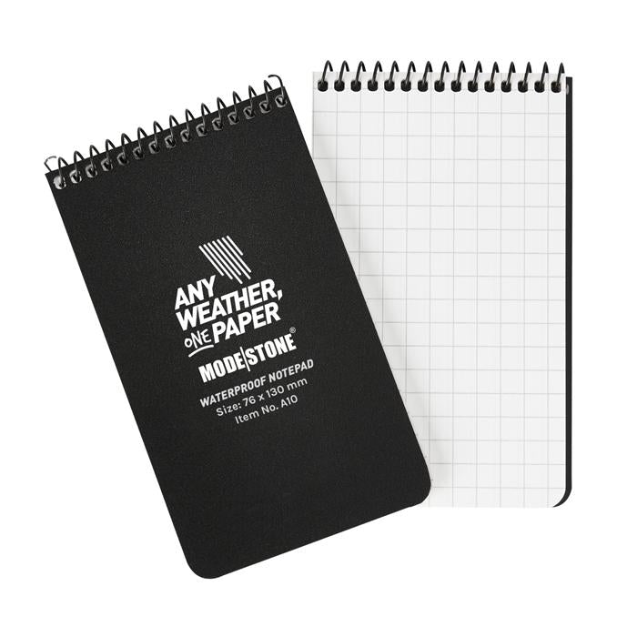 "Modestone 3"" x 5"" All-Weather Tactical Notebook - Black"